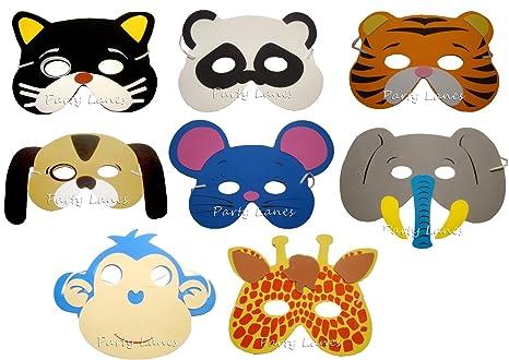 RETON Foam Animal Masks - 20 x Máscaras surtidos para niños