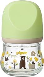 ピジョン Pigeon 母乳実感 哺乳びん my Precious 耐熱ガラス製 クマ 80ml 0ヶ月から おっぱい育児を確実にサポートする哺乳びん