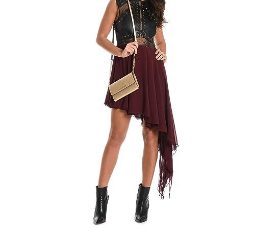 Mangano Vestito Donna Pmng001330398 Poliestere Bordeaux/Nero