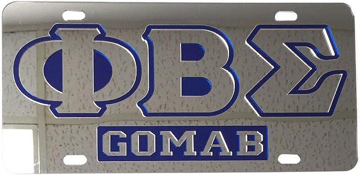 Black - Car//Truck Phi Beta Sigma 1914 Mirror Insert Car Tag License Plate
