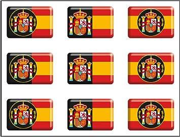 Artimagen Pegatina Bandera Rectángulo 9 uds. Escudos España Resina ...