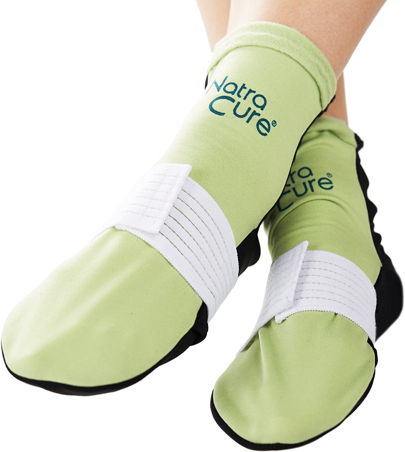 NatraCure Cold Therapy Socks (w/Compression Strap) - Extra Arch and Plantar Fasciitis Relief - (for feet, Heels, Pain, Swelling) - (Size: Large)