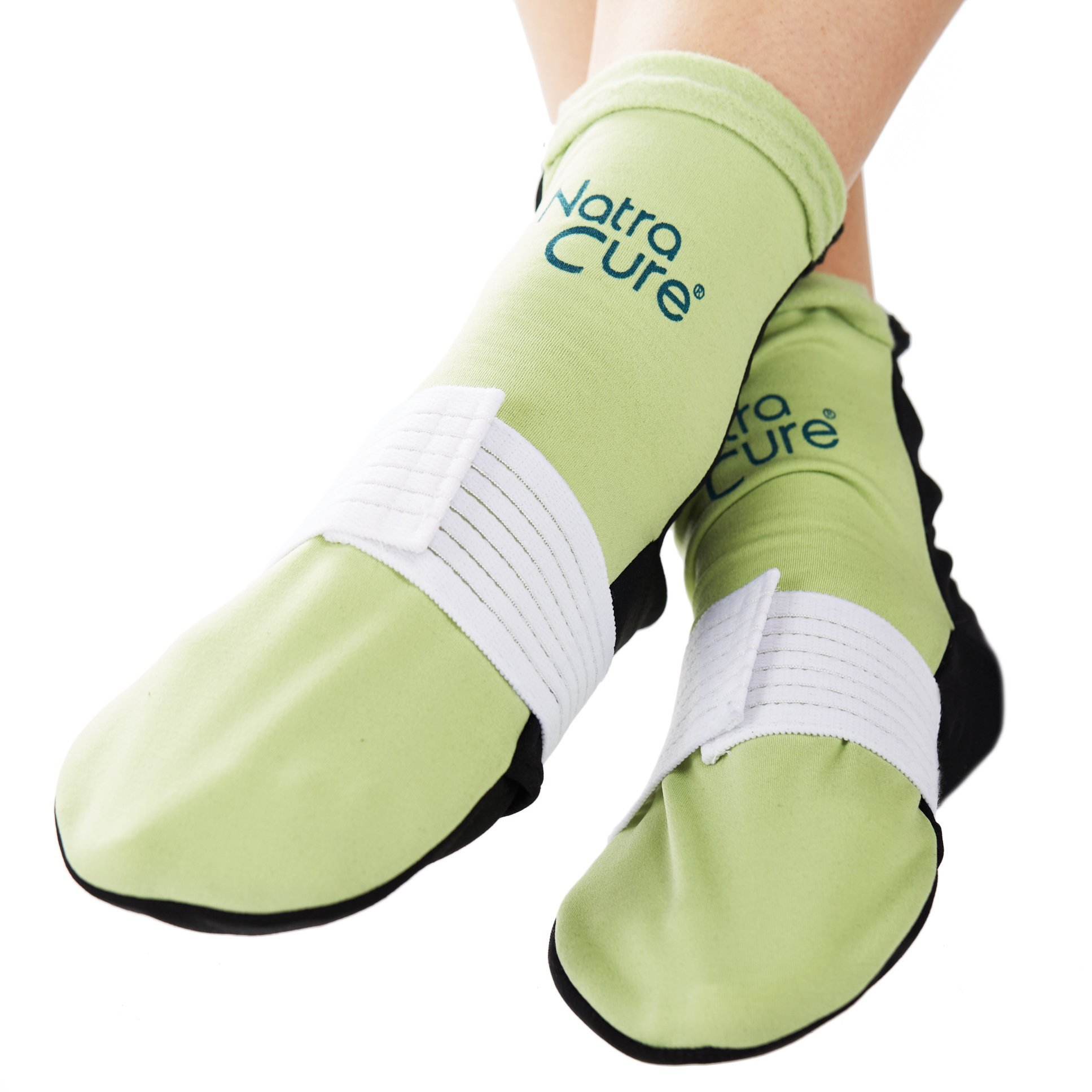 NatraCure Cold Therapy Socks (w/Compression Strap) - Extra Arch and Plantar Fasciitis Relief - (For feet, heels, pain, swelling) - (Size: Small/Medium) by NatraCure