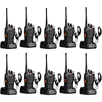 pxton Walkie Talkies for Adults Two Way Radios Long Range with Headphones,16 Channel Handheld 2 Way Radio Rechargeable…
