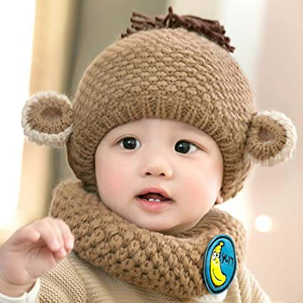 52088af7081 OLQMY-6-24 Months Baby Winter With Velvet Hat Boys And Girls Knitted Hat