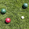Hey! Play!! 80-76090 Bocce Ball Set- Outdoor Family Bocce Game for Backyard, Lawn, Beach & More- 4 Red & 4 Green Balls, Pallino & Carrying Case by Trademark Global - Toys
