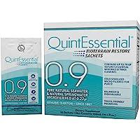 Quicksilver Scientific Quintessential 0.9 - Liquid Mineral Electrolyte + Trace Mineral Replenishment, Raw Unheated Ocean…