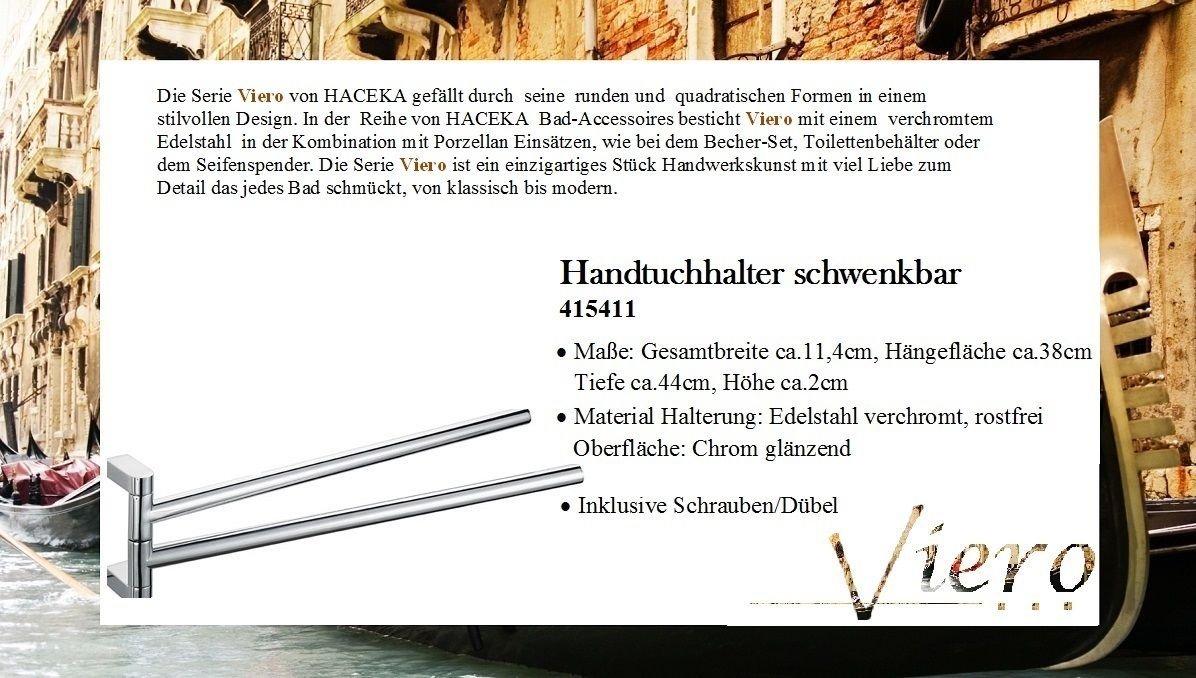 Haceka Viero Double Towel Holder / Rail / Bar Swivel 415411 ...