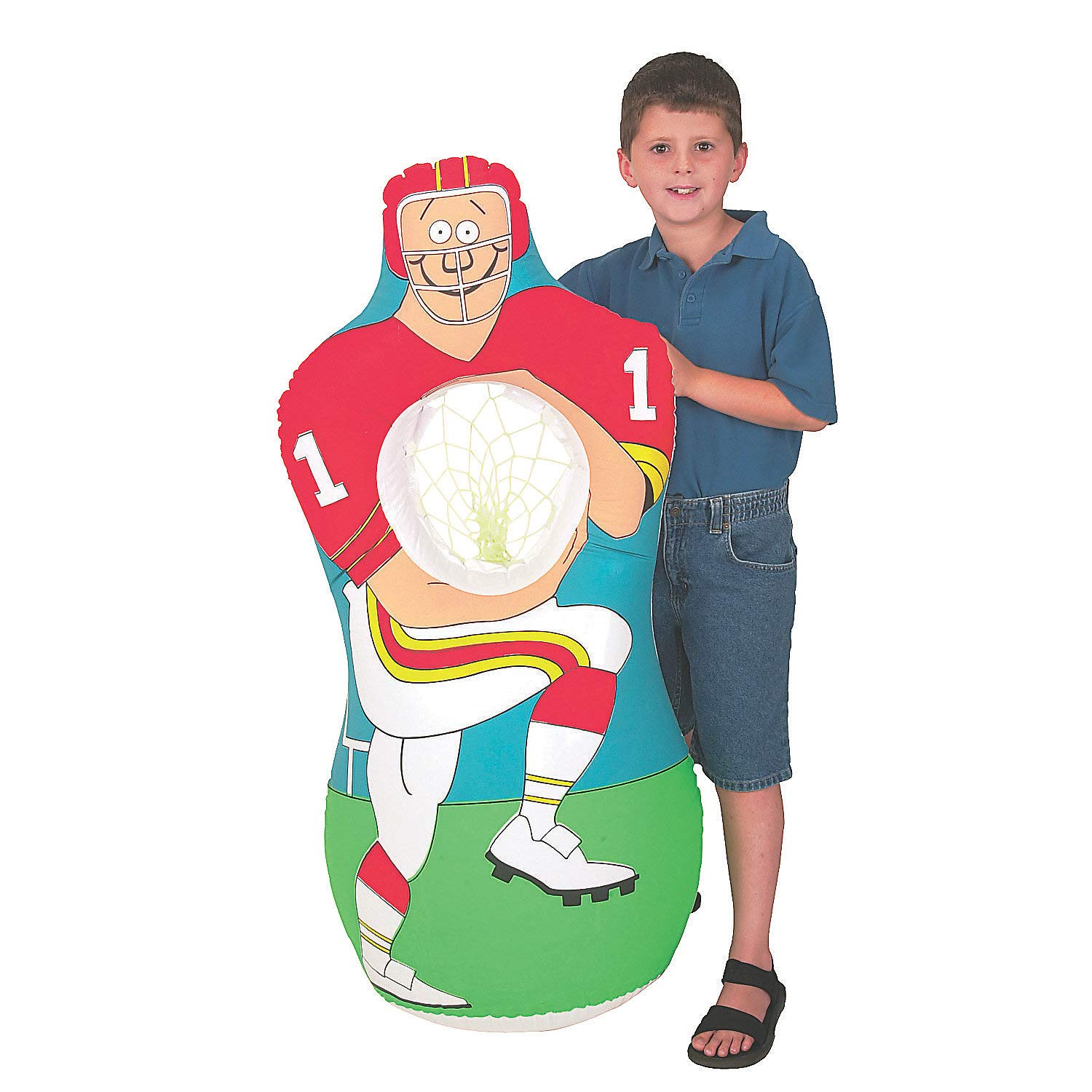 Fun Express - Inflate Football Player Catch Game - Toys - Inflates - Inflatable Games - 1 Piece by Fun Express