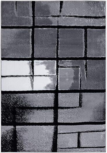 Luxe Weavers Lagos Collection 9218 Grey 9×12 Art Deco Area Rug
