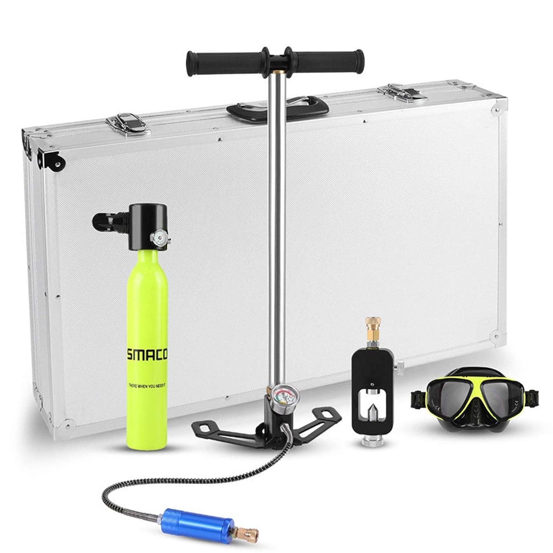 Air Oxygen O2 Tank Cylinder Bottle Goggle Pump Refill Scuba Diving Equipment Set