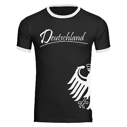 Multi Fan Shop Camiseta de Alemania Águila Lateral Camiseta para Hombre (Tallas S - 2 x l - Fútbol Campeones del Mundo Alemania Copa del Mundo 2018 Rusia: ...