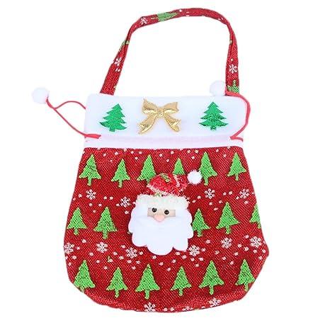 Laat saco de Navidad reno Papá Noel bolsa de cordón de ...