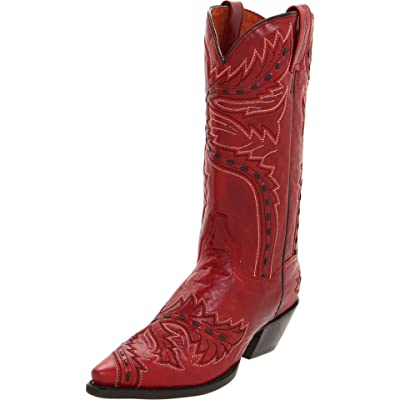 Dan Post Women's Sidewinder Western Boot, Red, 8.5 M US | Mid-Calf