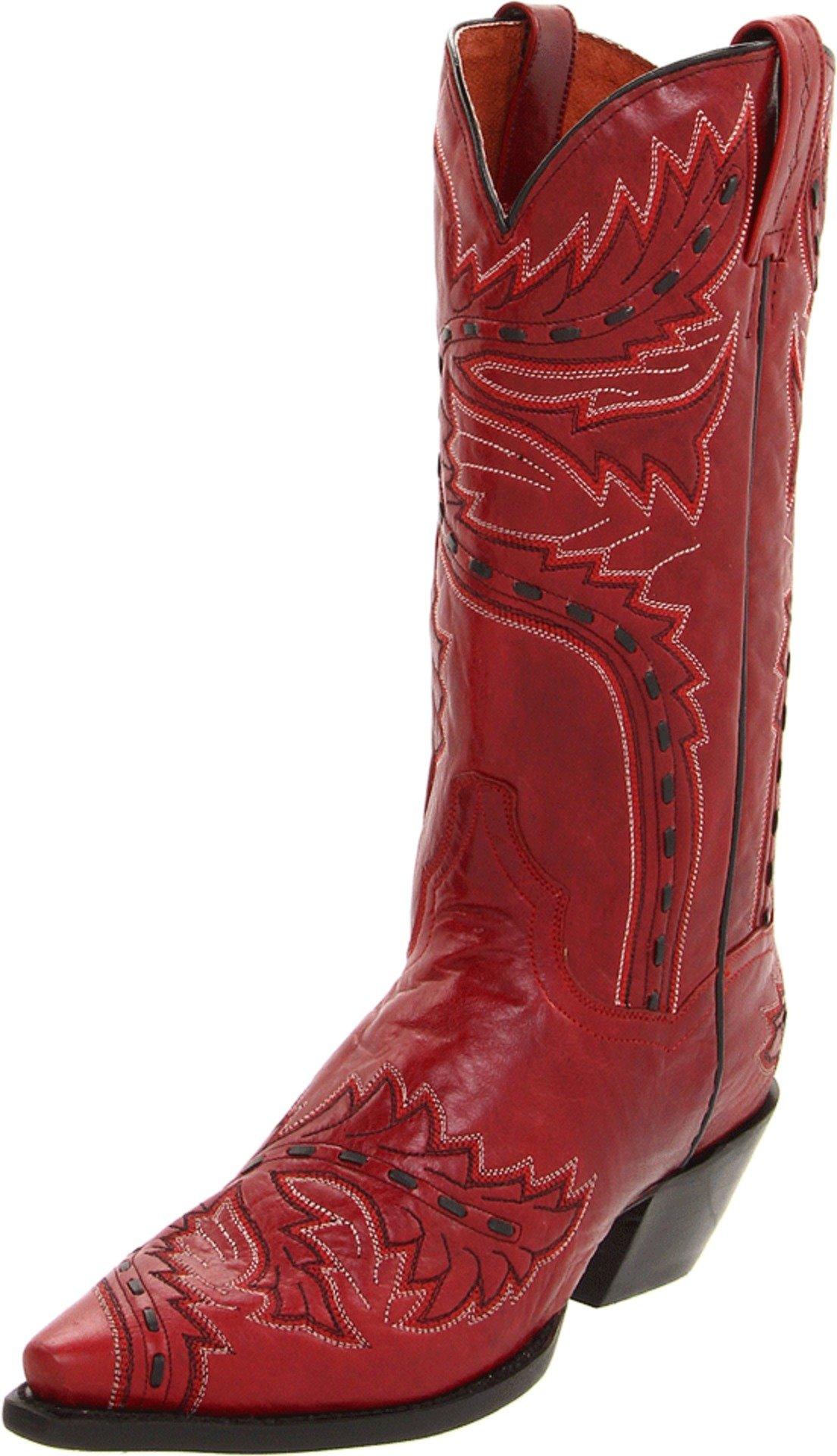 Dan Post Women's Sidewinder Western Boot,Red,6 B (M) US