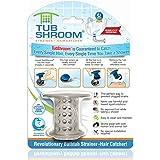 "TubShroom Tub Hair Catcher Drain Protector, Fits 1.5""-1.75"", Gray"