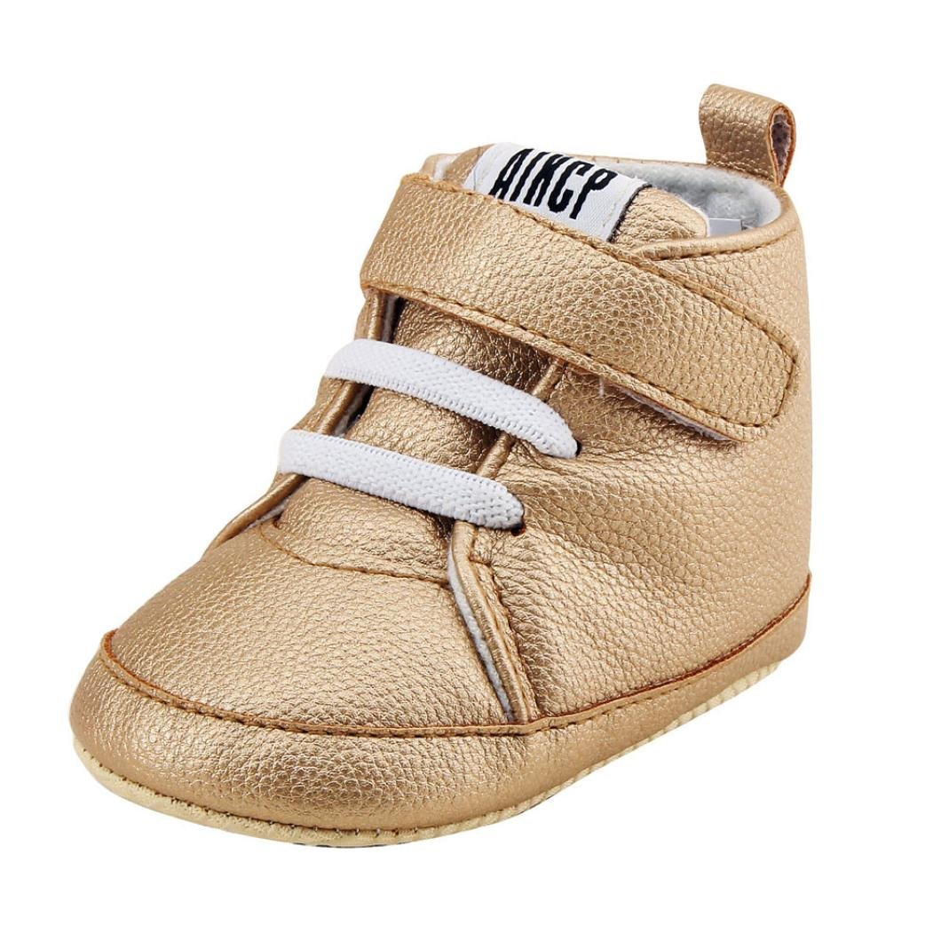For 0-18 Months, Clode® Toddler Baby Girls Boys Leather Crib Shoes Prewalker Soft Sole Sneakers Clode-B-014