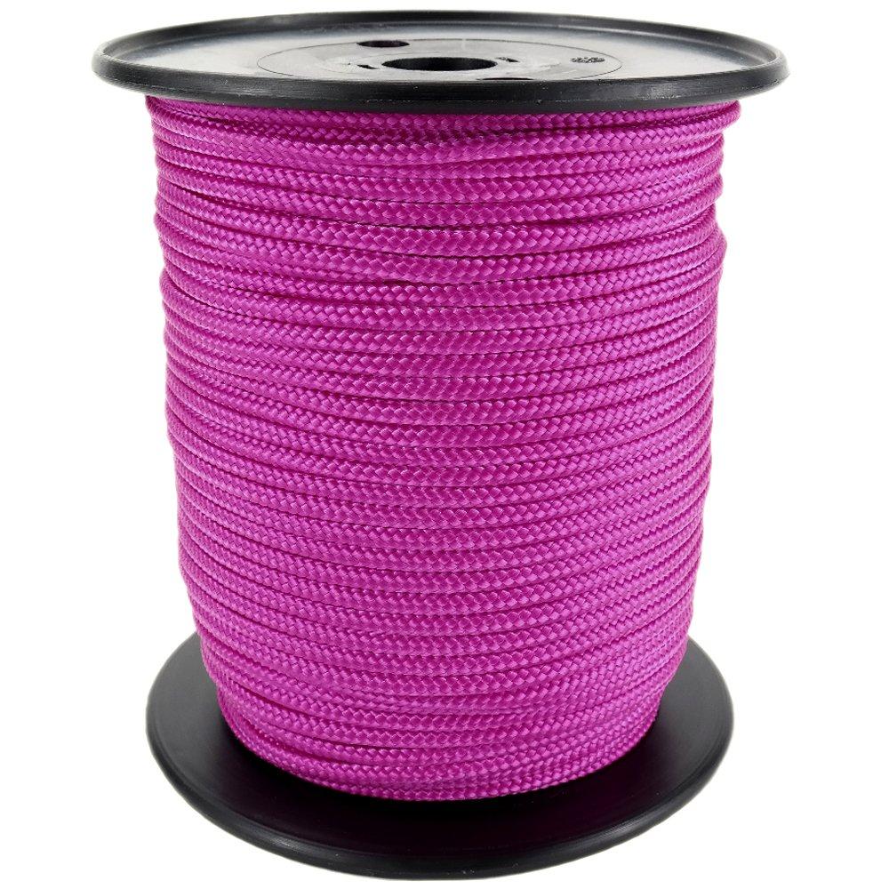 PP Seil Polypropylenseil SH 10mm 100m Farbe Pink Dunkel(3150) Geflochten
