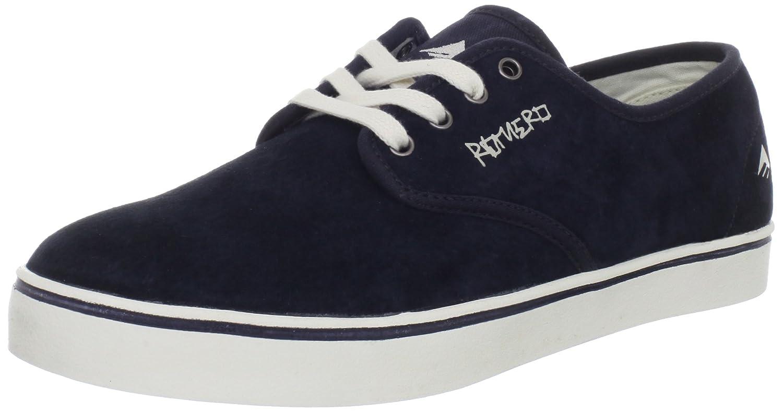 Emerica Men's LOL Leo Laced Skate Shoe 6 D(M) US|Navy/Tan