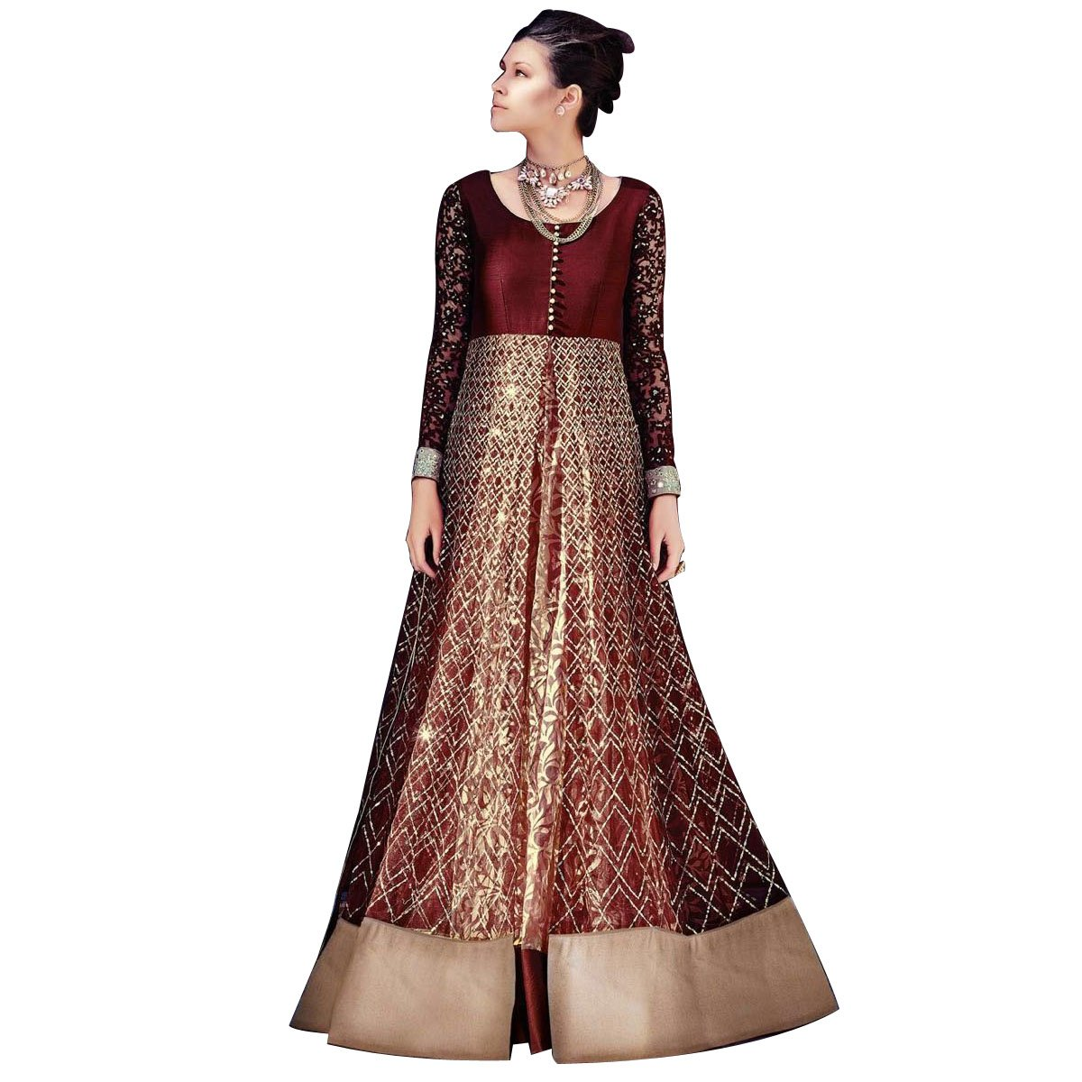 Designer Wedding Muslim Bridal Collection Ethnic Anarkali Suit Dupatta Ceremony hit 4