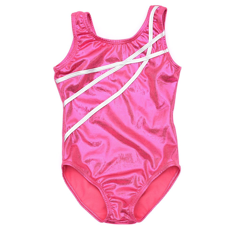 Jlong Girls Sleeveless Ribbon Pattern One Piece Gymnastics Leotards Bodysuit JL-ZQP5001961