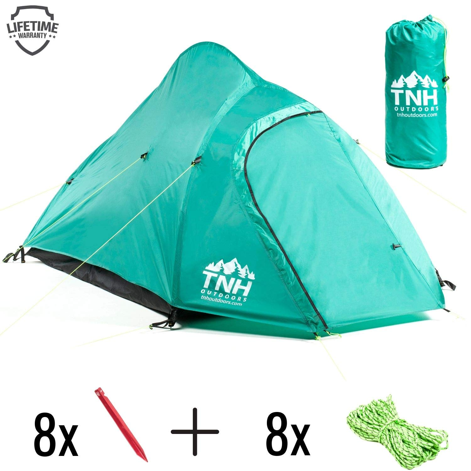 Rakaia Designs 2 Person Camping & Backpacking Tent with Carry Bag and Stakes - Portable Lightweight Easy Setup Hiking Tent by Rakaia Designs