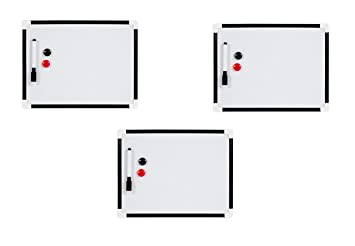 Invero® 3 x Pack de A4 pizarra magnética para colgar aviso ...