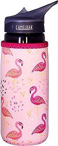 Koverz Neoprene 24-30 oz Water Bottle Insulator Cooler Coolie - Pink Flamingos