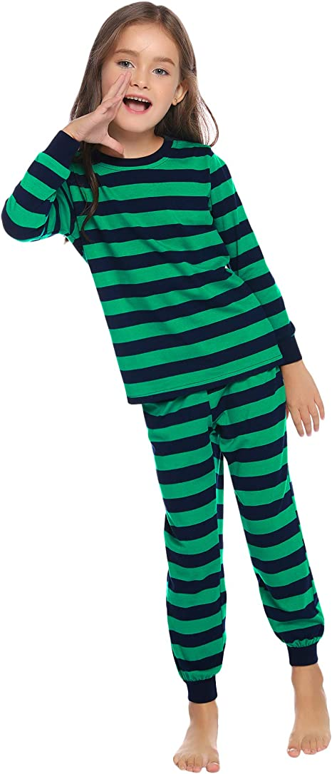 Little Girl Boy Cute Cotton Casual 2 Piece Pjs Set Kids Pajamas Homewear Set