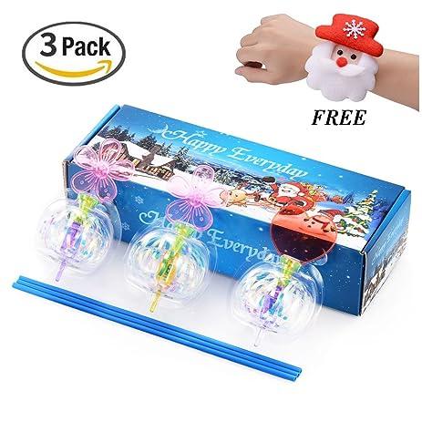 Amazon.com: Xosoy LED Spinning Toys, Colorful Christmas Bubble ...