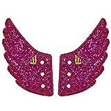Shwings Lace On Style Glitter Fuchsia Pink One Size Fabric Shoe Decoration Charm Wings