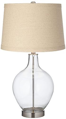 Amazon.com: Lámpara de mesa ovo de arpillera rellenable ...