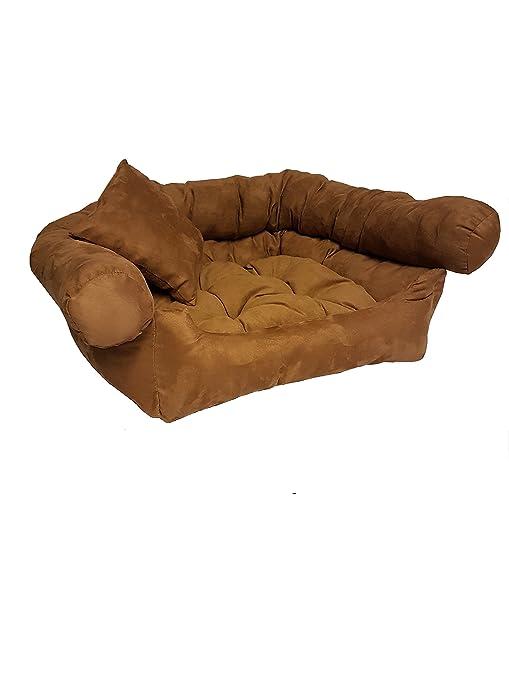 Perro sofá cama para perros Perros cesta marrón 80 x 60 x 28 ...