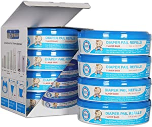 Upgraded Thicken, Diaper Genie Refill Bags, Compatible with Diaper Genie Pails,4-6 Months Supply,1120 Count (Pack of 4)