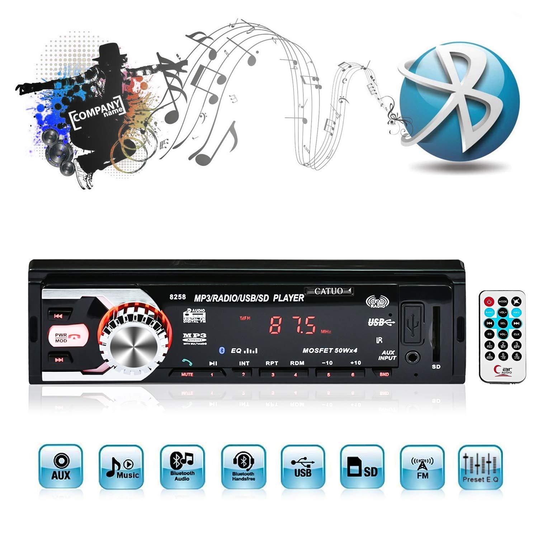 ICOCO Bluetooth Autoradio, 4.1 inch 1080P MP5-Player, Audio Empfä nger/MP3/MP4/AM/FM/USB/SD/MMC/WMA mit Fernbedienung