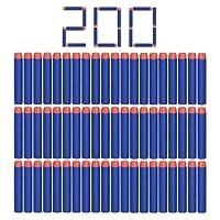 Camkey Lot de 200balles en mousse, balles de recharge à tête ronde et douce de 7,2cm pour Nerf N-Strike série Elite et autres pistolets de jeu pour enfants (Bleu)