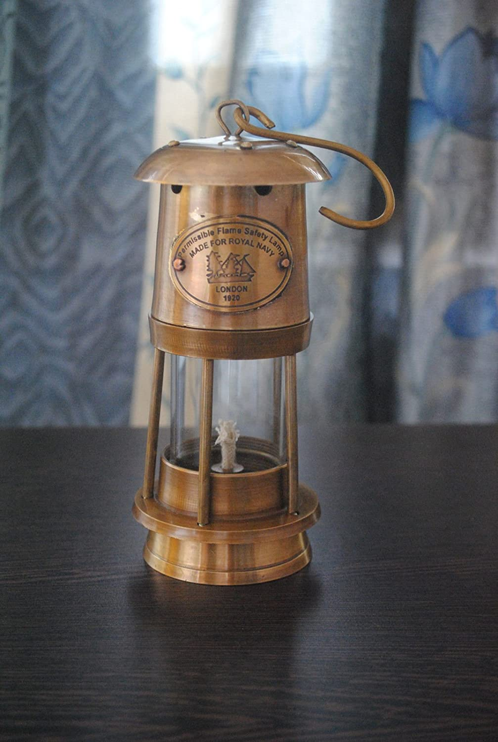 Ares India 6 Antique Vintage Style Brass Nautical Miner Ship Lantern Oil Lamp