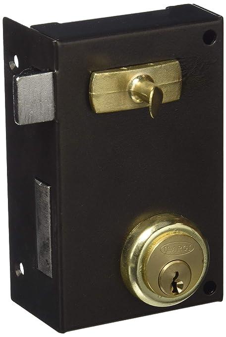 Ilargi - Cerradura 56a 70mm he izq bp de sobreponer c/cilindro. palanca con llave por ambos lados y tirador interior 56a-he70ip