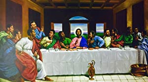 The Last Supper (Religious) - Johnny Myers 24x36 Unframed - African American Black Art Print Wall Decor Poster #