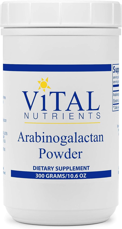 Vital Nutrients - Arabinogalactan Powder - Gastrointestinal, Liver, and Immune Support - Vegetarian - 300 Grams per Bottle