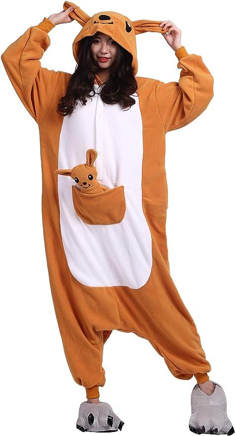 Pijama Animados Kigurumi Cosplay Canguro Animal para Adulto ...