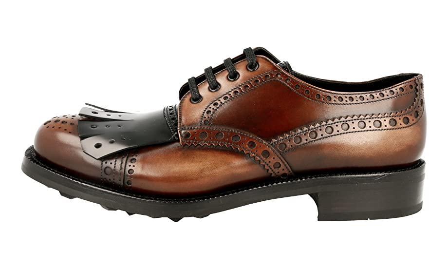 Men's 2EG196 Full Brogue Leather Business Shoes