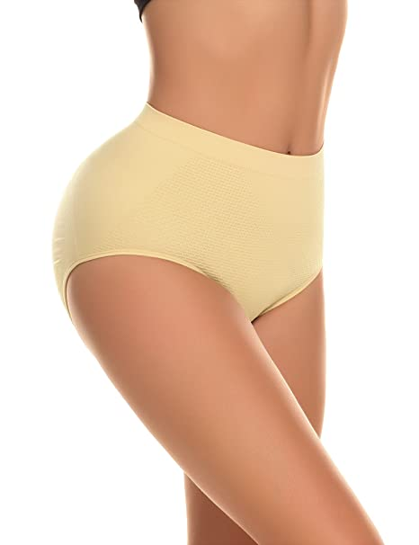 Yulee - Bragas con revestimento de tela alcolchada push-up acentuador de caderas - Beige