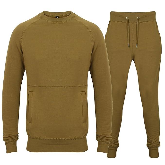 Traje deportivo Fabrica Fashion, elástico, sudadera con cremallera y pantalones con bolsillos con cremallera: Amazon.es: Ropa y accesorios