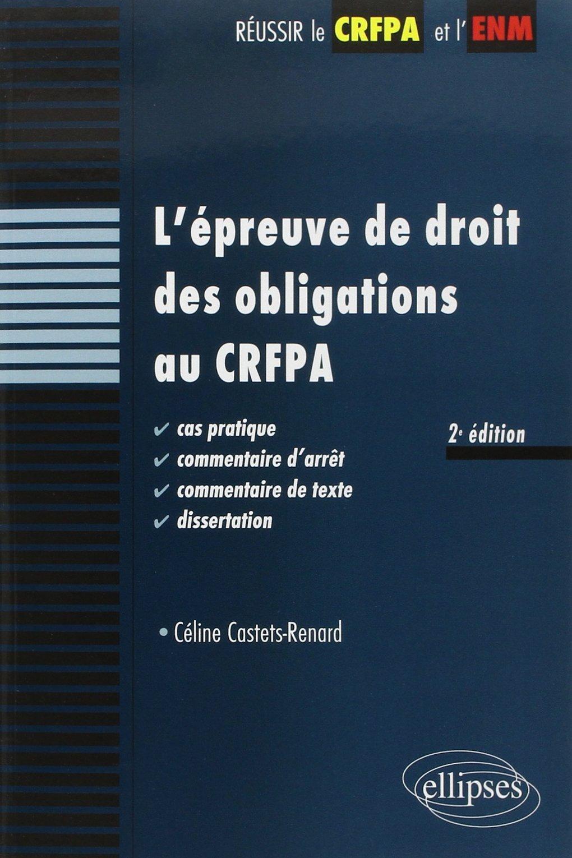 dissertation droit des obligations crfpa
