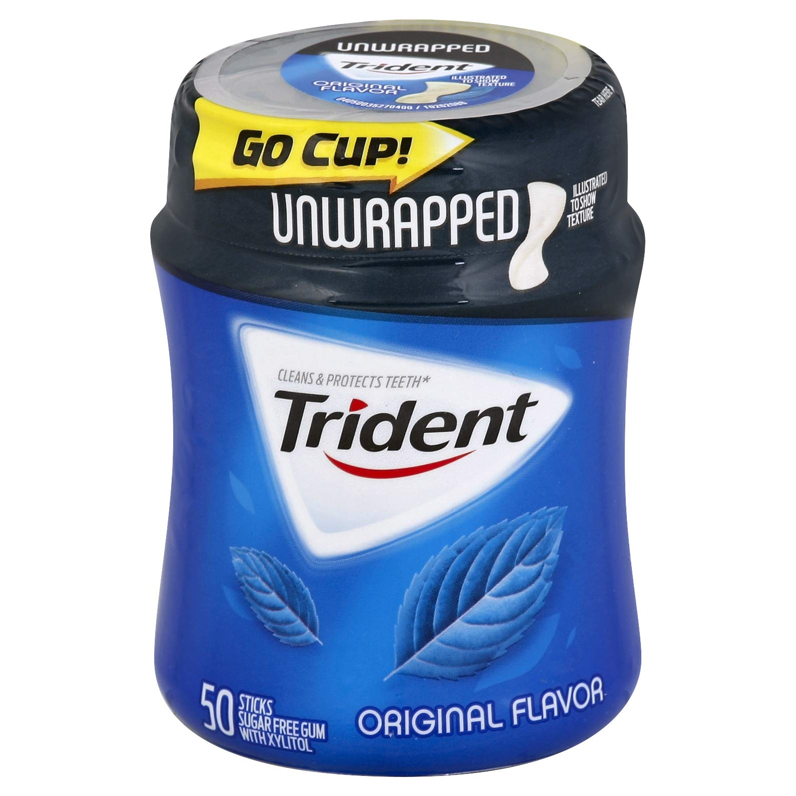 Trident Unwrapped Original Flavor Gum, 50 count per pack -- 24 per case.