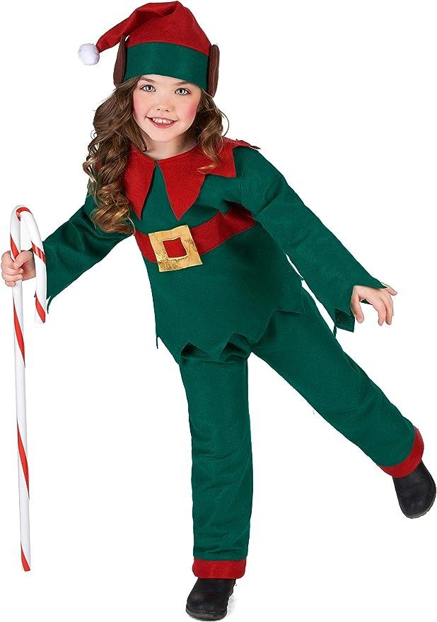 Generique - Disfraz de Elfo Navidad niño 4-6 años (104/116 ...