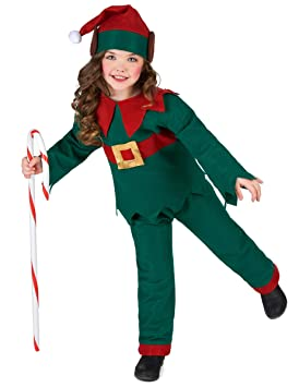 Generique - Disfraz de Elfo Navidad Niño 10-12 Años (140/152 ...