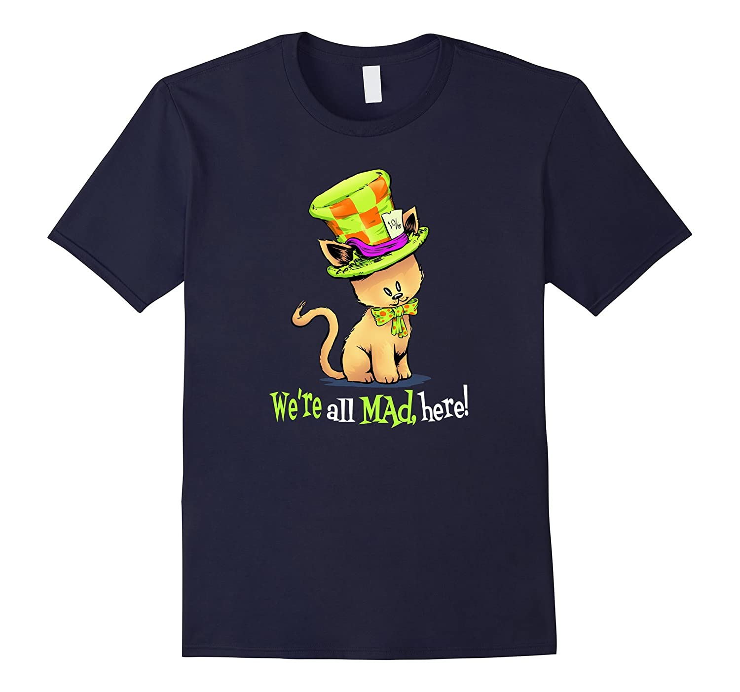 Alice in Wonderland Mad Hatter Cat Shirt-FL