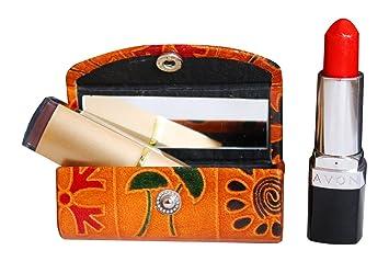 Estuche de piel para pintalabios y cosméticos para el bolso ...